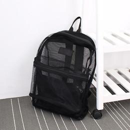 Doctor Backpacks Australia - Fashion Women Transparent Backpack Mesh Backpack For Boys And Girls Light Weight Rucksack Travel Shoulder Bag Y19061102