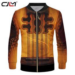 $enCountryForm.capitalKeyWord Australia - CJLM Gothic Guitar Art Musical Instrument Summer 3D Full Printing Fashion Jacket Print Style Fitness Casual Zipper coat