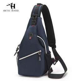 9fbd1423ee7c ARCTIC HUNTER Men  s chest bag leisure Messenger bag multi - functional shoulder  bag Oxford cloth