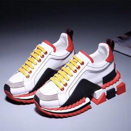 Ingrosso Super King sneakers uomo scarpe firmate vera pelle Sorrento Sneakers bicolore suola in gomma donna Casual Scarpe da ginnastica 6fgy
