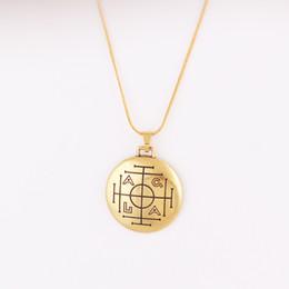 Male Pendant Design Australia - Viking Pagan amulet charm word metal pendant necklace retro design fashion accessary female male jewelry wholesale