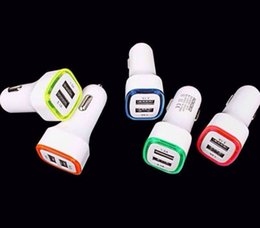 Charger 2.1a 5v Australia - LED Dual Usb Car Charger Vehicle Portable Power Adapter 5V 1A For Samsung S8 Note 8 iPX