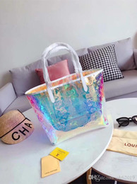 Colorful messenger bags online shopping - Fashion Designer Bag Classic Women s Laser Colorful Shopping Tote NEW Brand Women s Casual Bag LouisVuittongucci Messenger Bag