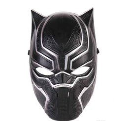 $enCountryForm.capitalKeyWord UK - Avenger Black Panther Face Mask Realistic Men's Latex Party Mask Xmas PVC Cosplay Costume Adults Masquerade Christmas Movie Fantastic