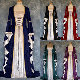 cosplay costumes for plus size Australia - Women Costume Medieval Maiden Fancy Cosplay Over Dress halloween costumes for women Victorian Plus size 5XLVampire Dress Costume