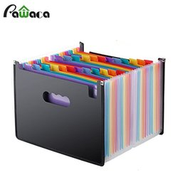 $enCountryForm.capitalKeyWord UK - 24 Pockets Expanding File Folder A4 Organizer Portable Rainbow Organ Business File Document Holder Storage Bag Office Supplies SH190918