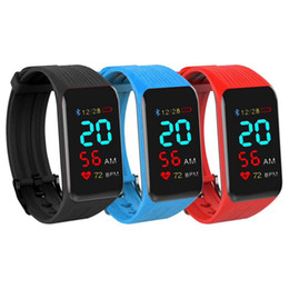 Real watches online shopping - K1 plus Smart Band Fitness Bracelet Real Time Watch Heart Rate Monitor Waterproof Activity Tracker Smart Wristband