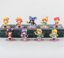 Boxes fruit online shopping - 9pcs set Anime Doll Movic Love Live South Bird Toys Summer smile Home Handmade Display fruit Cartoon Ornaments BLIND BOX Gift Package HWJ51