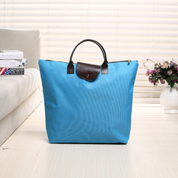 Wholesale customizable clothing resale online - Customizable cm Lengthen Large Capacity Oxford Top handle Storage Bag Dumpling Handbag Shopping Tote Bags DH0614 T03