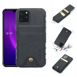 iphone flip up Australia - PU Leather Protective Cover for iPhone 11 Pro XS Max XR 8 6s Plus Up Flip Card Pocket Shockproof Full Protect Back Case