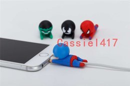 charger cartoons NZ - Cable Bite The avengers Cartoon Animal bite cable Protector Charger Cord cable bites for iPhone