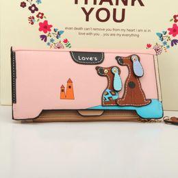 $enCountryForm.capitalKeyWord Australia - Wholetide- Nice Women Long Wallets Pu Leather Lovely Dog Zipper Hasp Purse Korea Style Wallets Bag Long Design Clutch Female Purse