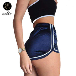 $enCountryForm.capitalKeyWord Australia - Pole Dance Fitness Falda Pantalon Corto High Waist Satin Smooth Holographic Shorts Hotpants Shiny Women Biker Shorts Edgy Twerk
