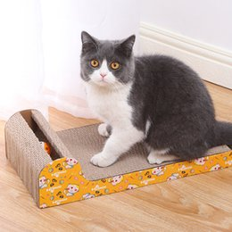 cat scratch pads UK - Pet Dog Cat Kitten Corrugated cat Scratch Board Pad Scratcher Bed Mat Claws Care Interactive Toy For Pet Training Cat toys