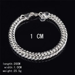 $enCountryForm.capitalKeyWord NZ - New Design 6MM 8MM 10MM 925 Sterling silver Figaro chain bracelet Fashion Men's Jewelry Top quality free shipping KKA3763