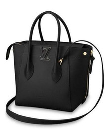 $enCountryForm.capitalKeyWord UK - 2019 M54843 Freedom Fashion Women Black Real Leather Handbag Shoulder Bags Hobo Handbags Top Handles Boston Cross Body Messenger Shoulder