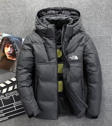Wholesale jacket face for sale – winter The north Winter Men down Jackets Parka Warm Down Coats hoodies Soft shell Hat thick outdoor ski outerwear face male clothing Bomber jacket