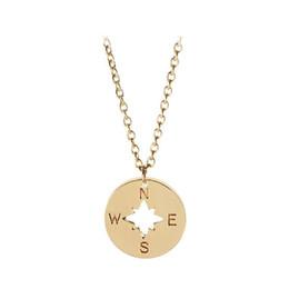 Best Friend Necklaces Sale Australia - Hot Sale New Compass Letter Pendant Necklace Men Women Fashion Necklaces Friendship Jewelry Best Friends Gift