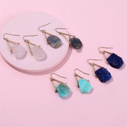00a8394e6238 Moda Pendientes de Piedra Natural Rosa Amazonita Pendientes de Cristal de  Cristal Regalo de Navidad Estilo Kendra Scott Dangle Pendientes para Mujeres