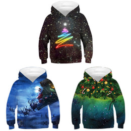 Chinese  3D Christmas Santa Claus digital printing hooded children's long-sleeved sweater Sweatshirts cosplay masked jacket manufacturers