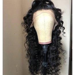 China Pre Plucked Curly Lace Front Wigs Human Hair 180% Density Malaysian Remy Hair Afro Curl Wigs for Black Women on Sale suppliers