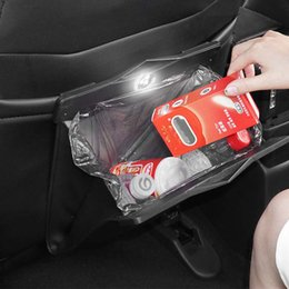 garbage bag clothes Australia - BACANO Synthetic leather Vehicle garbage bag for toys clothes seat buckles wastebasket SUV Trunk Organizer for car Garbage bag