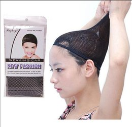 wholesale hair nets Australia - DHL FREESHIPPING NEW Fishnet Wig Cap Invisible Nylon Hair Nets Stretchable Elastic Hair Net Snood Wig Cap hair net wig net