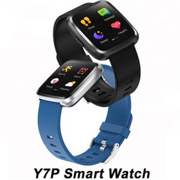 Touch Screen Watches For Men NZ - Y7 Plus Smart watch IP67 Waterproof Touch Screen Heart Rate Monitor Blood Pressure Women Men Y7P Smartwatch For Android IOS