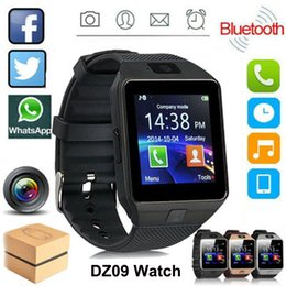 wrist cellphones Australia - DZ09 Smart Watch Bluetooth Android Smart Wristband SIM Intelligent Sport Watch For Android IOS Samsung Cellphones
