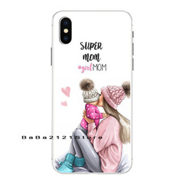 Black Hair Baby Girl Australia - Fashion Black Brown Hair Baby Mom Girl Queen Transparent Phone Case For Iphone 8 7 6 6s Plus X Xs Max 5 5s Se Xr 10 Case