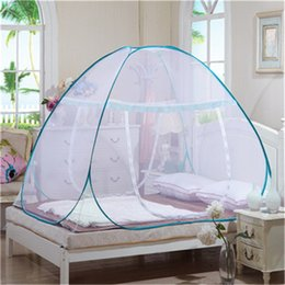 Discount mosquito nets for doors - Home Travel Outdoor Mosquito Net For Bed Bottomed Folding Single Door Netting Single Student Bunk Bed Mosquito Net Mesh