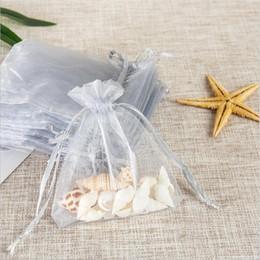 $enCountryForm.capitalKeyWord Australia - 50Pcs bag Organza Bags 7x9cm Wedding Pouches Gift Bag 19 Colors Selection Jewelry Packaging Transparent Gauze Bag 6Z-SH312