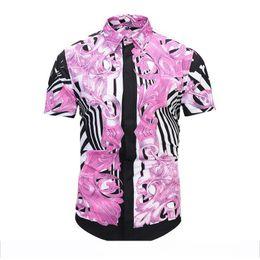 $enCountryForm.capitalKeyWord Australia - Italy Fashion design brand men's Casual Short sleeve shirt fashion design Mixed color embroidery shirt leisure shirts 3xl