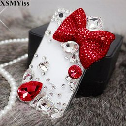 $enCountryForm.capitalKeyWord Australia - For iPhone 5C 5 5S SE 6 6S 7 8 Plus X XS MAX XR Luxury Lovely Girls Bow Tie Bling Glitter Diamond Rhinestone Crystal Phone Case