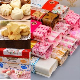 food wax paper UK - 50 Sheets Set Wax Paper Nougat Soap Hamburg Food Wrapping Baking Paper Bread Sandwich Burger Fries Package Wax Paper