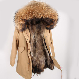 $enCountryForm.capitalKeyWord Australia - Men's Real Raccoon Fur Jacket Men Real Fur Parka With Removable Raccoon Fur Liner Hood Winter Long Warm Coat SH190820