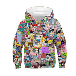 anime winter clothing 2019 - Raisevern Cartoon Anime Girls Boys Hoodies Kids Hooded Sweatshirt Children Autumn Winter Casual Loose Clothes Tops 3D Ho