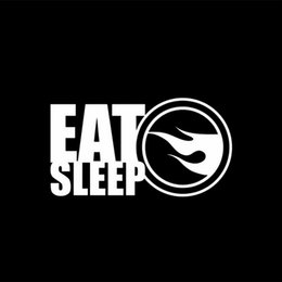 $enCountryForm.capitalKeyWord Australia - 16.5*9cm Eat Sleep Treasure Hunt Car Wheels Sticker Decal Funny Car Window Bumper Novelty JDM Drift Vinyl Decal Sticker