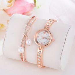 Discount light green bracelet - Hot Light Luxury Girl Temperament Watch Bracelet Watch with box Chain Birthday Gift Fashion party light luxury 4 H
