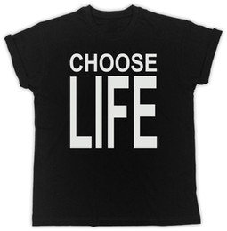Discount george t shirt - CHOOSE LIFE GEORGE MICHAEL MIX UNISEX IDEAL GIFT BIRTHDAY PRESENT BLACK T SHIRT funny 100% Cotton t shirt Short Sleeve P