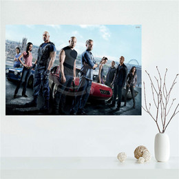 wholesale custom canvas prints NZ - YJW523-L2 Custom fast and furious Canvas Painting Wall Silk Poster cloth print DIY Fabric Poster FF-2