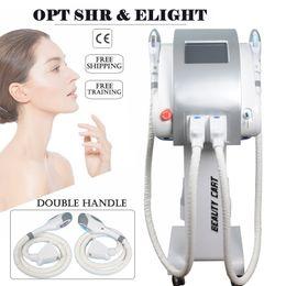 Discount ipl light therapy - diode laser hair removal professional IPL SHR machine 2019 Most popular SHR E-light IPL+RF Skin Rejuvenation Vascular Th
