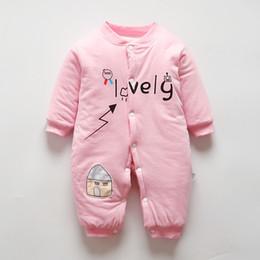 cecc64893b good quality Newborn Winter Baby Girl Rompers Thicken Warm Cotton Jumpsuit  Toddler Clothing Cartoon Christmas Girls Onesie