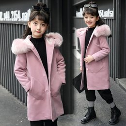 $enCountryForm.capitalKeyWord NZ - New Girls Long Sleeve Hooded Clothing Windbreaker Spring Autumn Winter Clothes Wool Coat Kids Jacket Fur Collar Outwear Parka