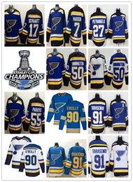 St Louis Blues Jerseys Australia - St. Louis Blues Jersey 2019 Stanley Cup Champions Vladimir Tarasenko Ryan O'Reilly Jaden Schwartz Maroon Binnington Jake Allen Hockey Jersey