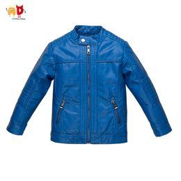 $enCountryForm.capitalKeyWord Australia - good quality Boys Girls Leather Jacket for Autumn Winter Blue Kids Coat Soft breathable Faux Leather Children's Outwear Clothing