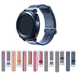 Red Smart Watches Australia - Nylon strap For Samsung Galaxy Watch Active Sport Bracelets Adjustable Breathable Smart watch Bands Dual Colo