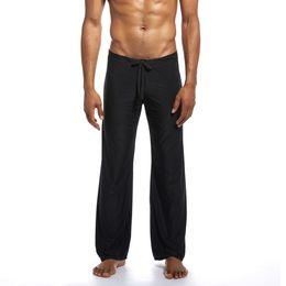 $enCountryForm.capitalKeyWord UK - Men's Cotton Homewear Check Drawstring Pants Menswear Men Slim Fit Pure Home Pants Yoga Tie-up Comfortable Trousers 4.18