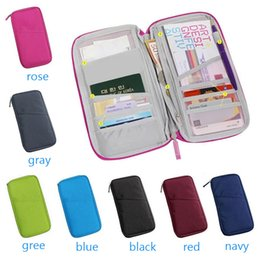 document holders UK - Women Travel Passport Bag Credit ID Card Cash Wallet Purse Documents Case Zipper Organizer Belt Unisex