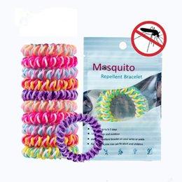 Cartoon Telephones Australia - Mosquito Repellent Hand Ring Tricolor Anti-mosquito Telephone Line Hair Ring Anti-mosquito Bracelet Cartoon Accessories CCA11531 300pcs
